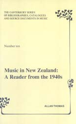 Music in New Zealand: A Reader from the 1940s
