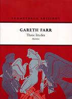Gareth Farr: Three Etudes - hardcopy SCORE