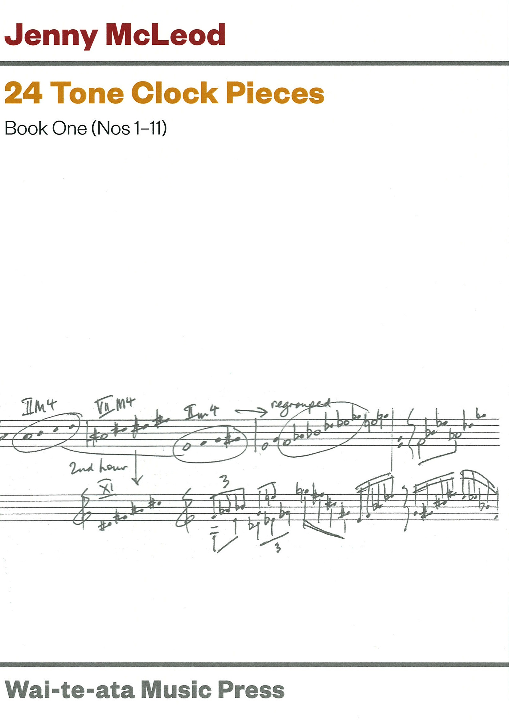 Jenny McLeod: 24 Tone Clock Pieces - Book One (Nos 1-11) - hardcopy SCORE