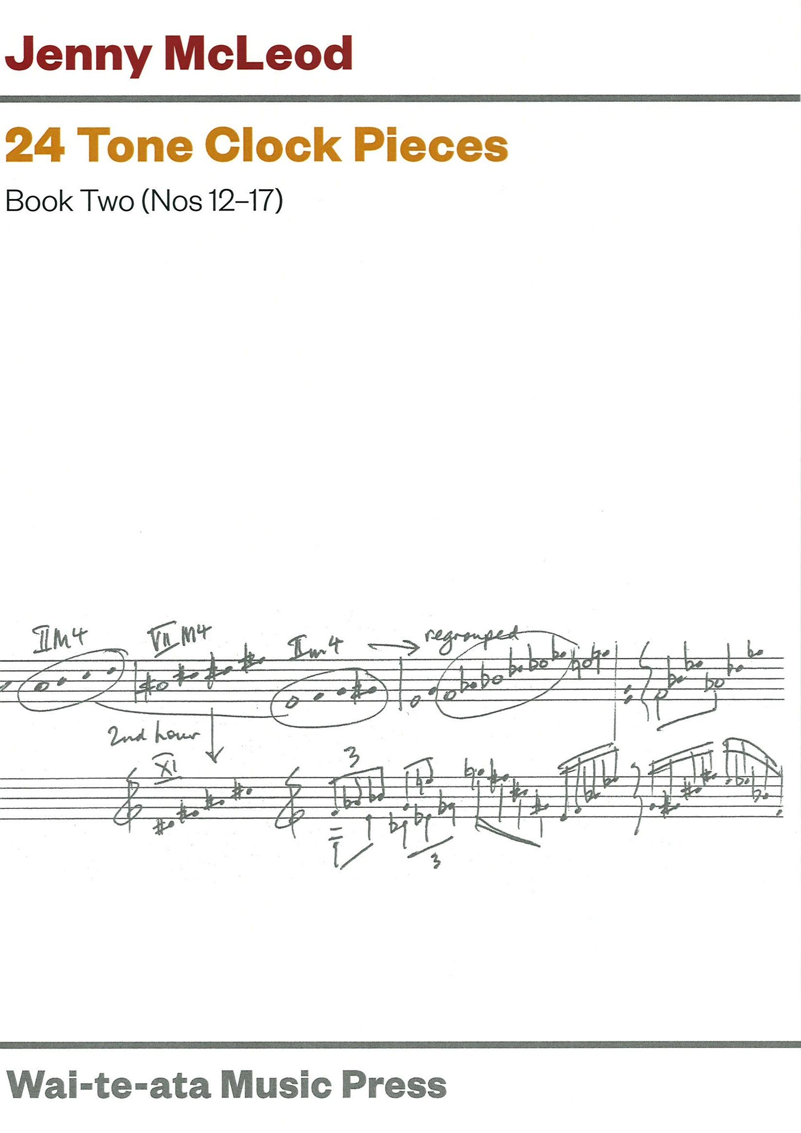 Jenny McLeod: 24 Tone Clock Pieces - Book Two (Nos 12-17) - hardcopy SCORE