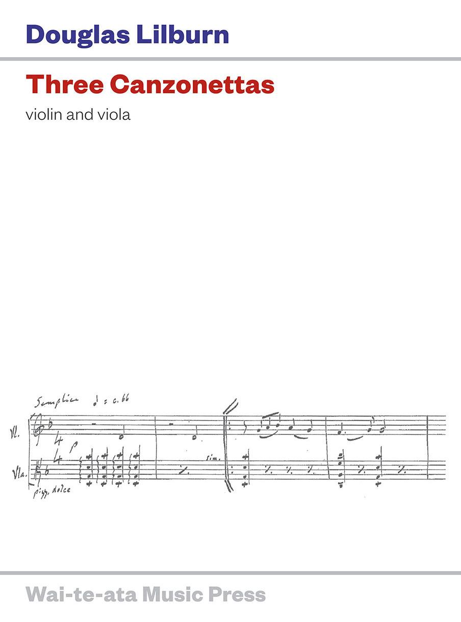 Douglas Lilburn: Three Canzonettas for violin and viola - hardcopy SCORE