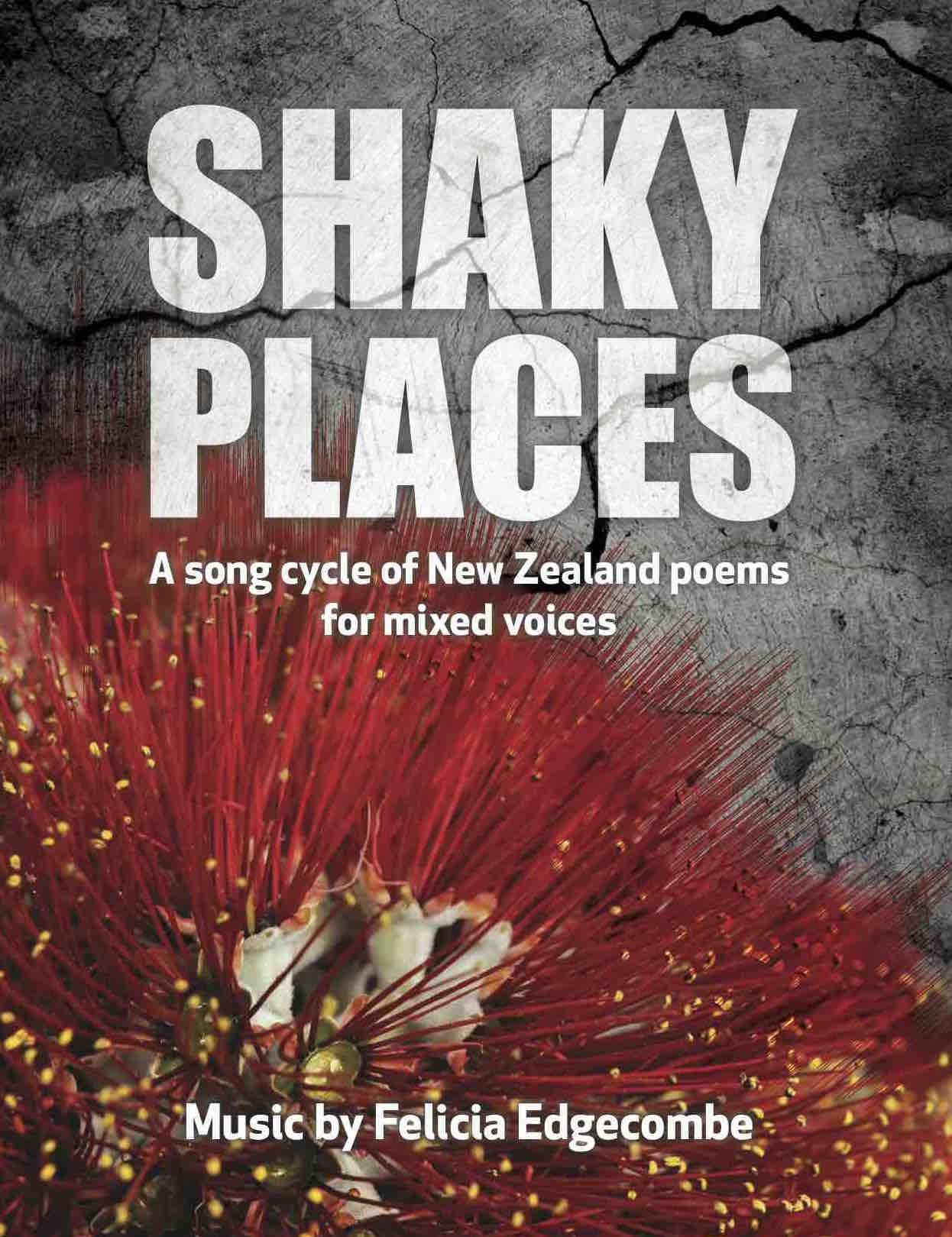 Felicia Edgecombe: Shaky Places - hardcopy SCORE