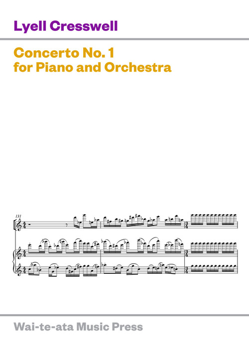 Lyell Cresswell: Concerto No. 1 for Piano and Orchestra - hardcopy SCORE
