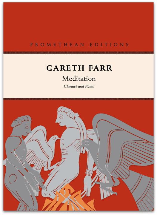 Gareth Farr: Meditation (clarinet version) - hardcopy SCORE