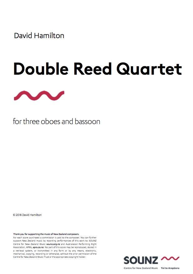 David Hamilton: Double Reed Quartet - hardcopy PARTS