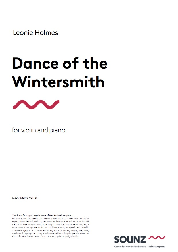 Leonie Holmes: Dance of the Wintersmith - downloadable PDF SCORE