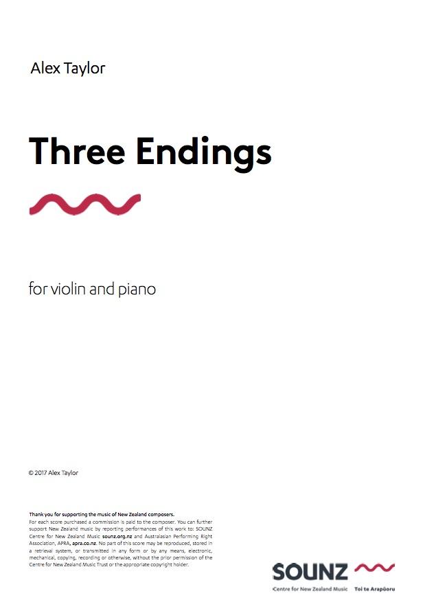 Alex Taylor: Three Endings - downloadable PDF SCORE