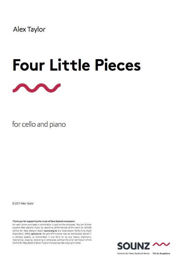 Alex Taylor: Four Little Pieces - downloadable PDF SCORE