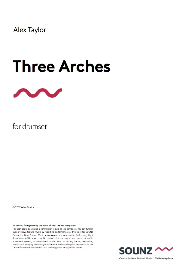 Alex Taylor: Three Arches - downloadable PDF SCORE