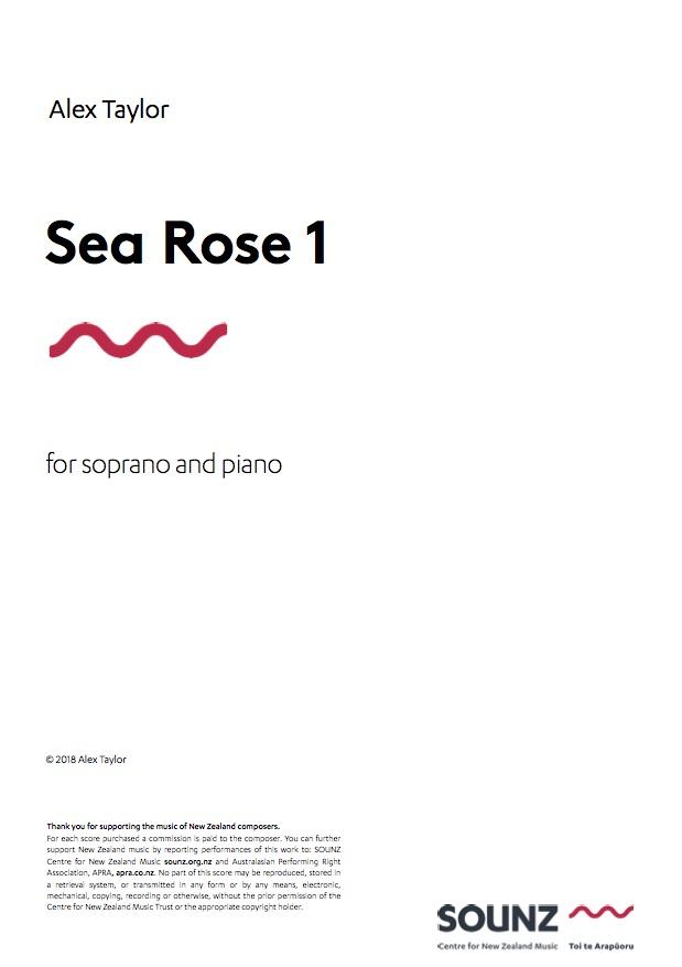 Alex Taylor: Sea Rose 1 - downloadable PDF SCORE