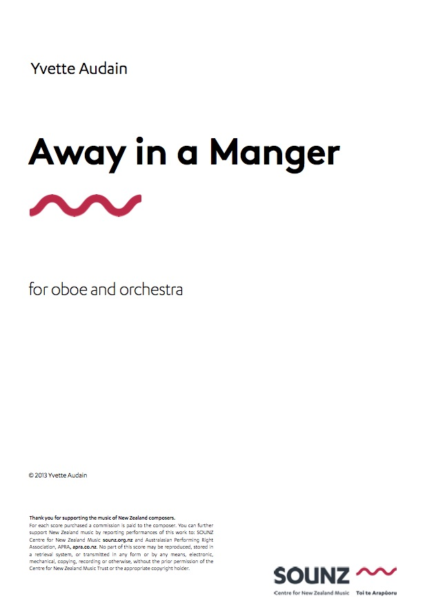 Yvette Audain: Away in a Manger - downloadable PDF SCORE