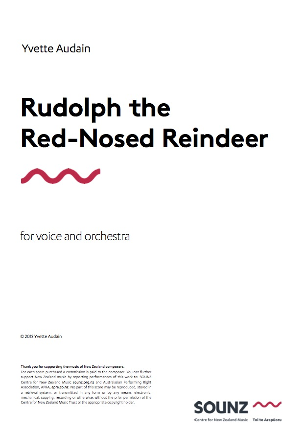 Yvette Audain (arr.): Rudolph the Red-Nosed Reindeer - downloadable PDF SCORE