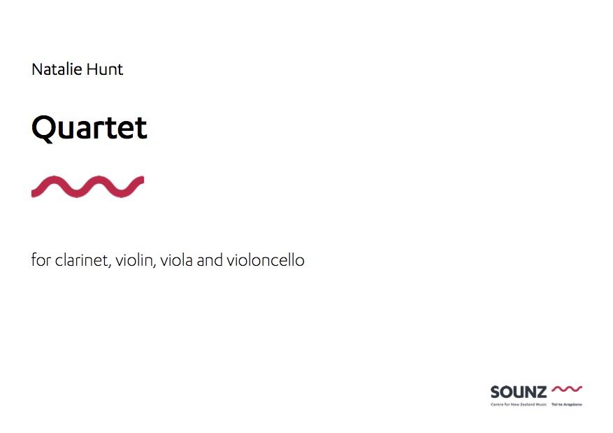 Natalie Hunt: Quartet - downloadable PDF SCORE