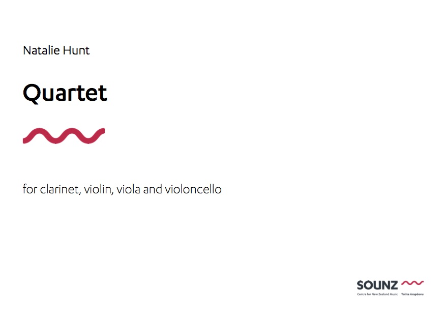 Natalie Hunt: Quartet - downloadable PDF SCORE and PARTS