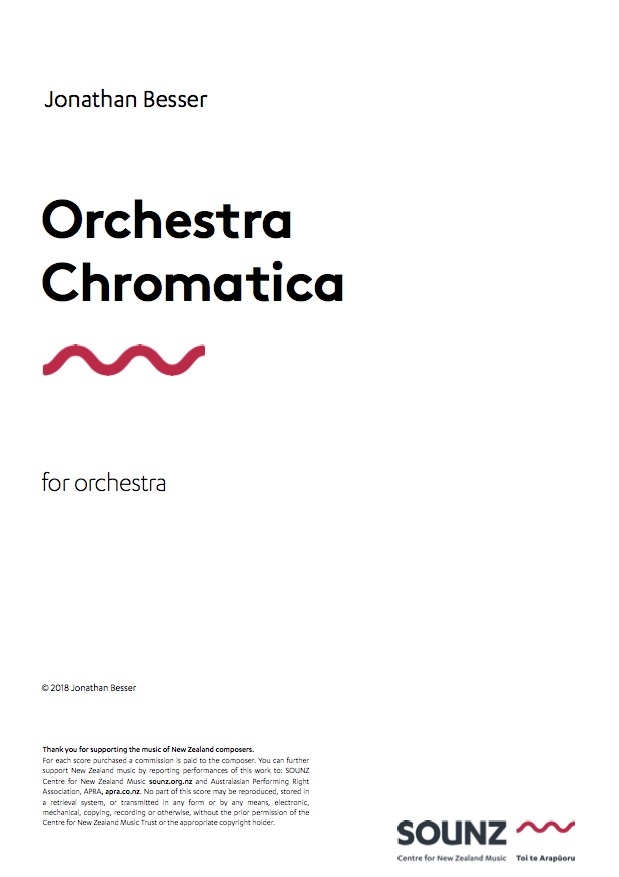 Jonathan Besser: Orchestra Chromatica - hardcopy SCORE