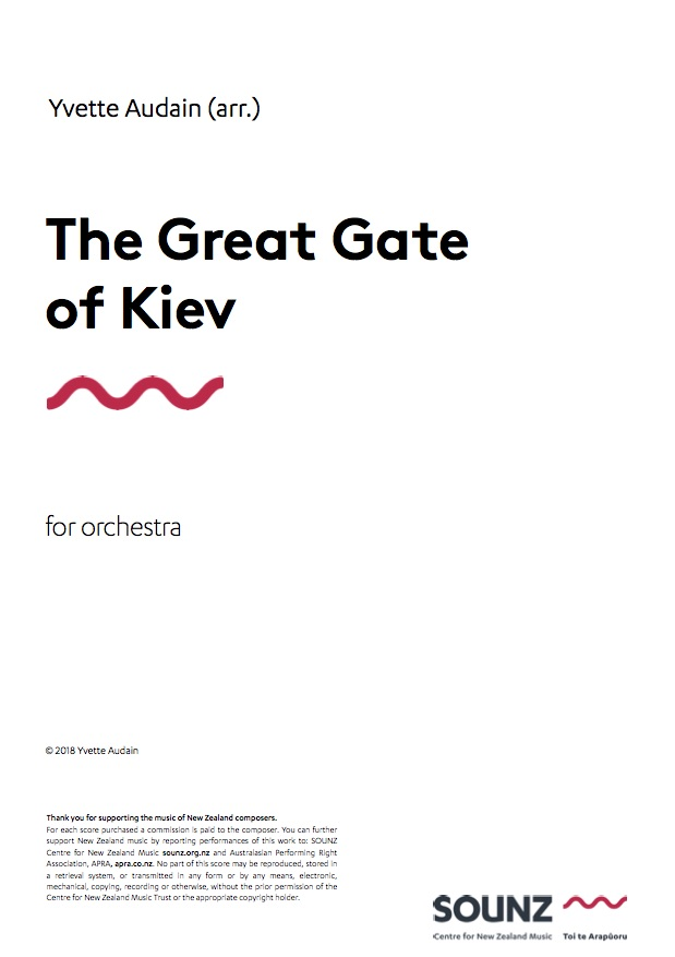 Yvette Audain: The Great Gate of Kiev - downloadable PDF SCORE