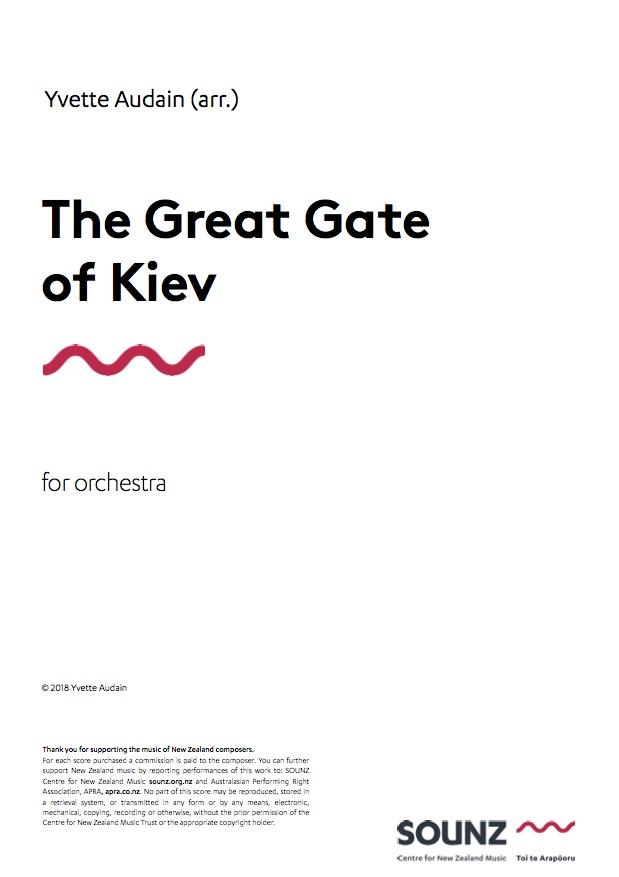 Yvette Audain: The Great Gate of Kiev - hardcopy SCORE