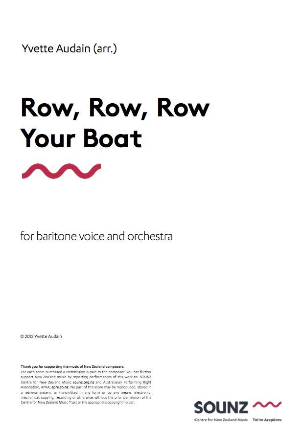Yvette Audain (arr.): Row, Row, Row Your Boat - downloadable PDF SCORE