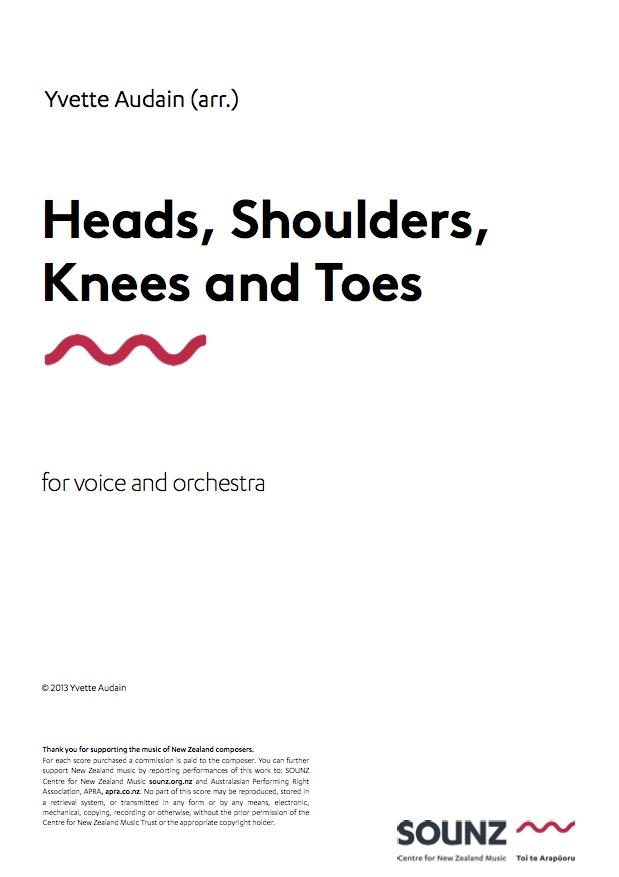 Yvette Audain (arr.): Heads, Shoulders, Knees and Toes - hardcopy SCORE