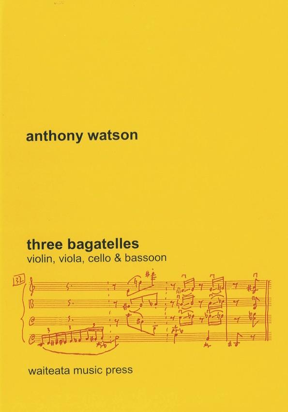 Anthony Watson: Three Bagatelles - hardcopy SCORE