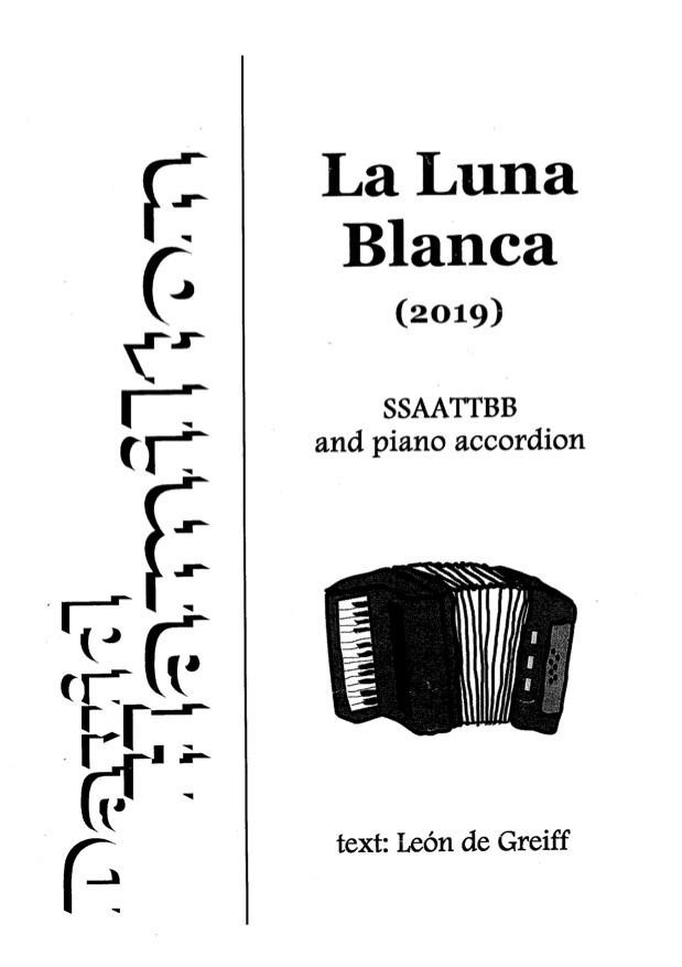 David Hamilton: La Luna Blanca - hardcopy SCORE