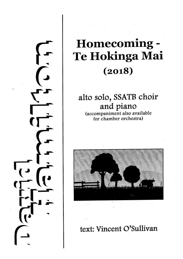 David Hamilton: Homecoming - Te Hokinga Mai - hardcopy SCORE