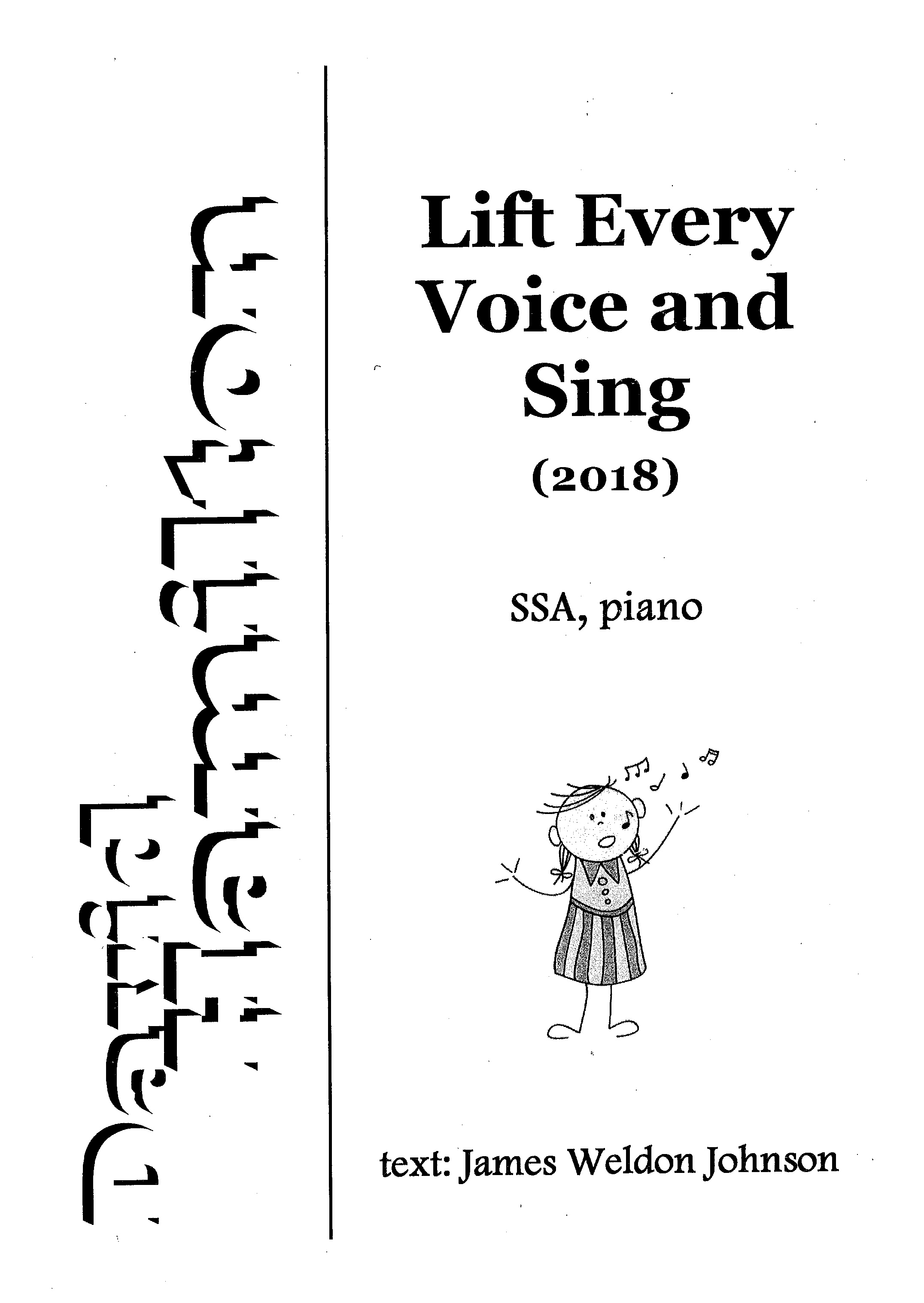 David Hamilton: Lift Every Voice and Sing - hardcopy SCORE