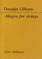 Douglas Lilburn:  Allegro for Strings - hardcopy PARTS