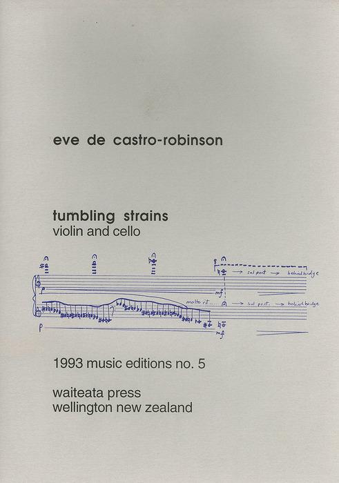 Eve de Castro-Robinson: Tumbling Strains - hardcopy HANDWRITTEN SCORE