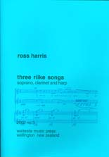 Ross Harris: Three Rilke Songs - hardcopy SCORE