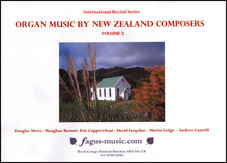 Organ Music by New Zealand Composers, Volume 2 - hardcopy SCORE