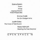 Open Space 16: Elaine Barkin, Emma Carlé, Judith Exley, Mara Helmuth