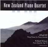 Alfred Hill: Three Works for Piano Quartet - CD