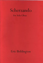 Eric Biddington: Three Pieces for Oboe and Harp - hardcopy SCORE and PARTS