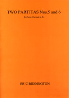 Eric Biddington: Two Partitas (Nos. 5 and 6) - hardcopy SCORE